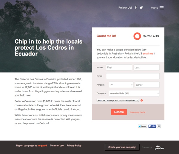 Chip in to help the locals protect Los Cedros in Ecuador